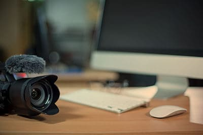 Filming, editing and video marketing