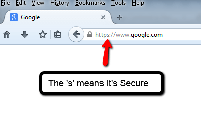 Website security Google search https example